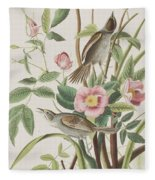 Seaside Finch Fleece Blanket