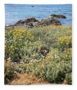 Seaside Flowers Fleece Blanket