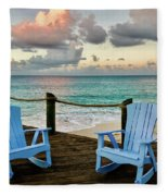 Seaside In Antigua Fleece Blanket