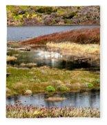 Seaside Marsh Fleece Blanket