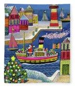 Seaside Santa Fleece Blanket