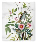 Seaside Sparrow, 1858 Fleece Blanket