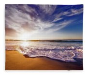 Seaside Sunset Fleece Blanket