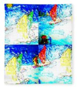 Seaside-regatta Fleece Blanket