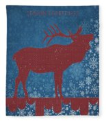 Seasonal Greetings Artwork Fleece Blanket