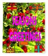 Seasons Greetings 10 Fleece Blanket