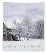 Season's Greetings Fleece Blanket