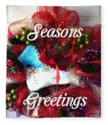 Seasons Greetings Old Skate Fleece Blanket