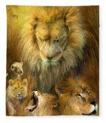 Seasons Of The Lion Fleece Blanket