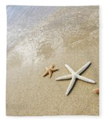 Seastars On Beach Fleece Blanket