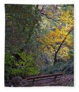 Romantic Autumn Rendezvous Fleece Blanket