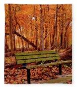 Seat To Autumn Fleece Blanket