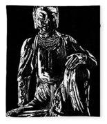 Seated Buddha Fleece Blanket