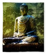 Seated Buddha Fleece Blanket