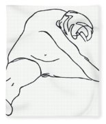 Seated Figure Fleece Blanket