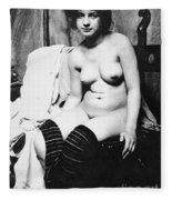 Seated Nude, C1910 Fleece Blanket