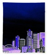 Seattle Blue 2 Fleece Blanket