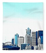 Seattle Blue Fleece Blanket