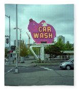 Seattle - Elephant Car Wash 2 Fleece Blanket