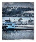 Seattle Ferry Fleece Blanket