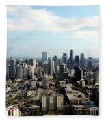 Seattle From Above Fleece Blanket