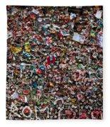 Seattle Gum Wall Fleece Blanket