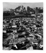 Seattle: Hooverville, 1933 Fleece Blanket