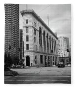 Seattle - Misty Architecture 2 Bw Fleece Blanket