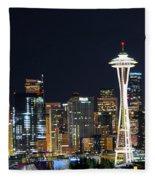 Seattle Night Sky Fleece Blanket