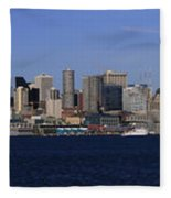 Seattle Panoramic Fleece Blanket