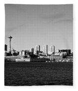 Seattle Skyline #2 Fleece Blanket