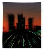 Seattle Skyline Motion Fleece Blanket