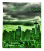 Seattle Washington - The Emerald City Fleece Blanket
