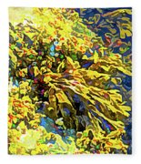 Seaweed On Rock In Ocean Fleece Blanket