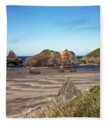 Secluded Beach Fleece Blanket