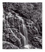 Secluded Falls - Bw Fleece Blanket