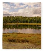 Secluded Lake Fleece Blanket