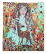 Second Chakra  Angel A Supernova Who Grew Up To Be Stardust Fleece Blanket