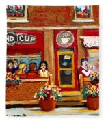 Second Cup Coffee Shop Fleece Blanket