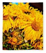 Flowers - Second Life Fleece Blanket