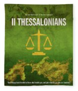 Second Thessalonians Books Of The Bible Series New Testament Minimal Poster Art Number 14 Fleece Blanket