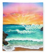 Secret Beach Fleece Blanket