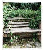 Secret Garden Bench Fleece Blanket