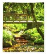 Secret Garden Bridge Fleece Blanket