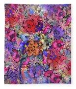 Secret Garden Flowers Fleece Blanket