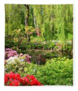 Secret Garden Pond Fleece Blanket