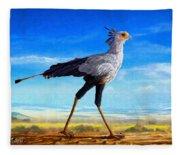 Secretary Bird Fleece Blanket