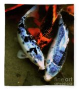 Secrets Of The Wild Koi 10 Fleece Blanket