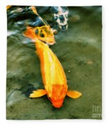 Secrets Of The Wild Koi 11 Fleece Blanket