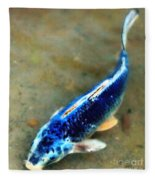 Secrets Of The Wild Koi 18 Fleece Blanket